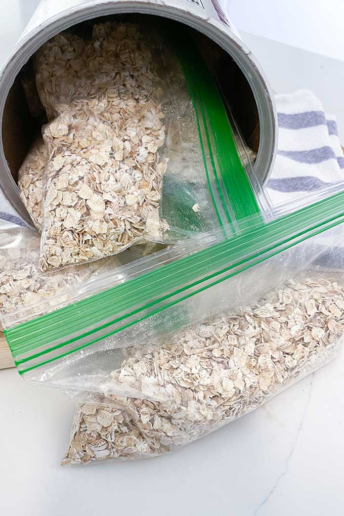 instant oatmeal packets homemade in zip bags