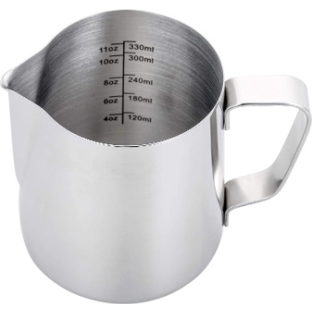 silver steaming pitcher