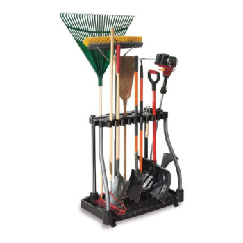 garage tool caddy with tools staning up
