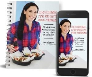 chicken ebook on a phone and printed in book form
