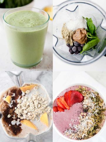 collage of smoothie and smoothie bowl images