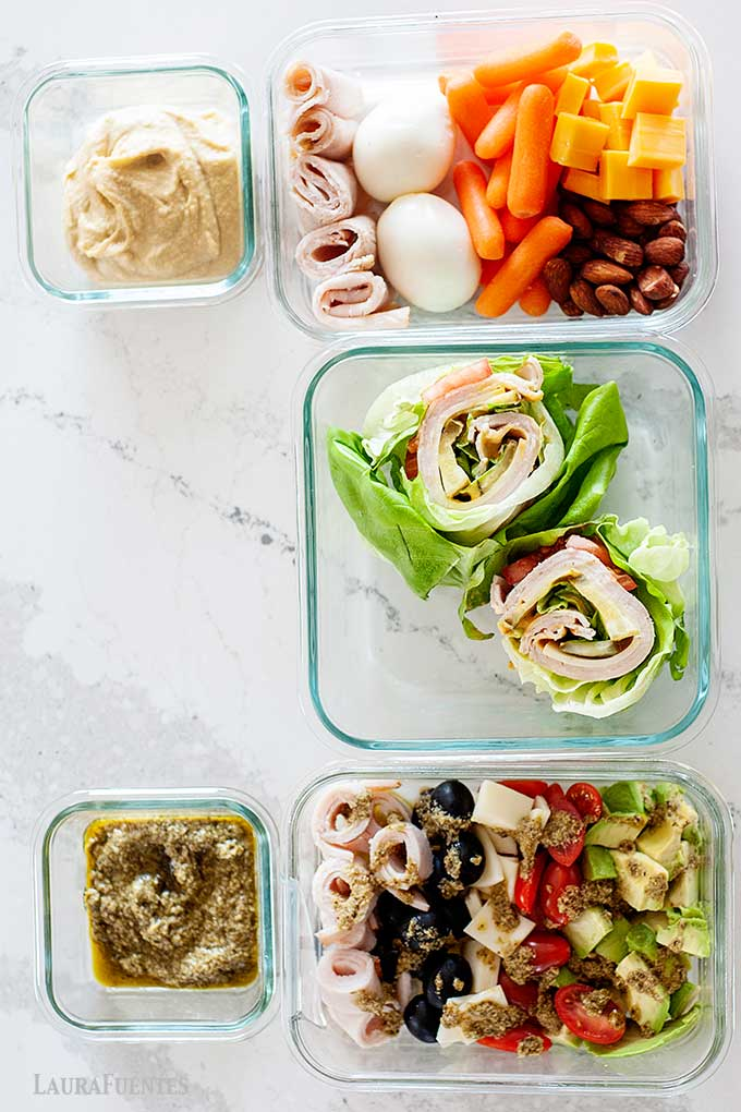 low carb lunches in glass lunch containers