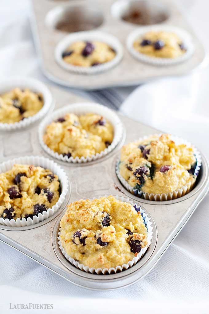 baked coconut flour blueberry muffins