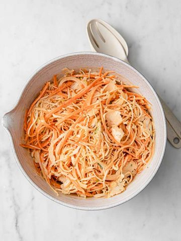 creole coleslaw in a large bowl
