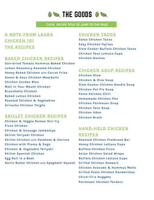 img: table of contents chicken ebook