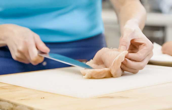 how to butterfly a chicken breast to stuff it