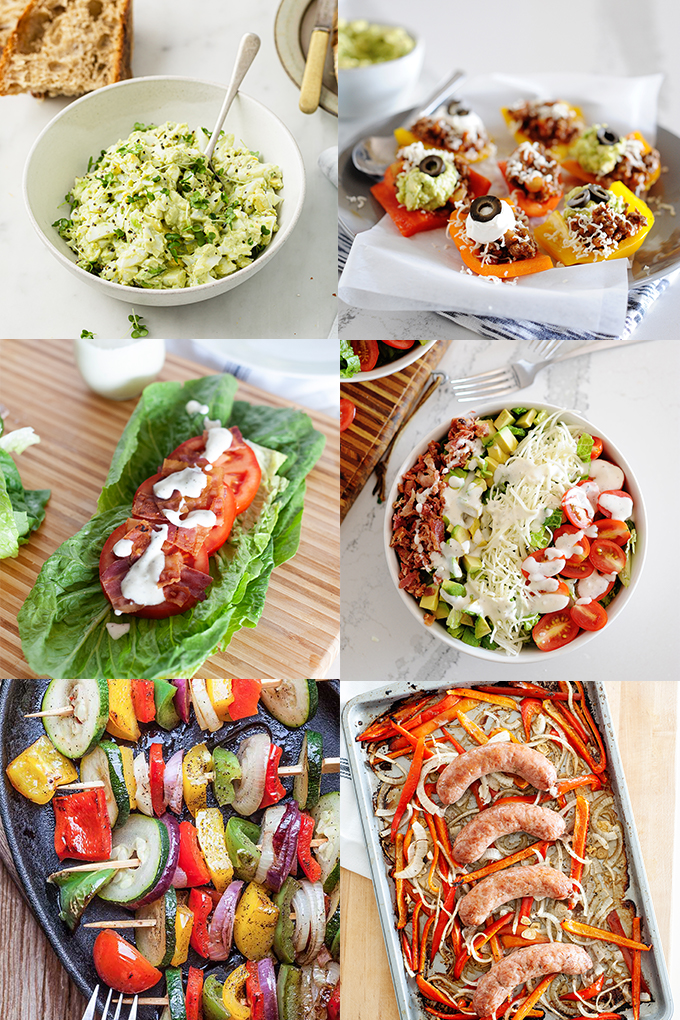 photo collage of summer dinners