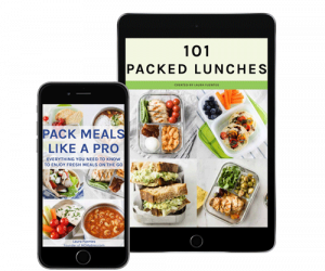 packed lunches ebook on a tablet