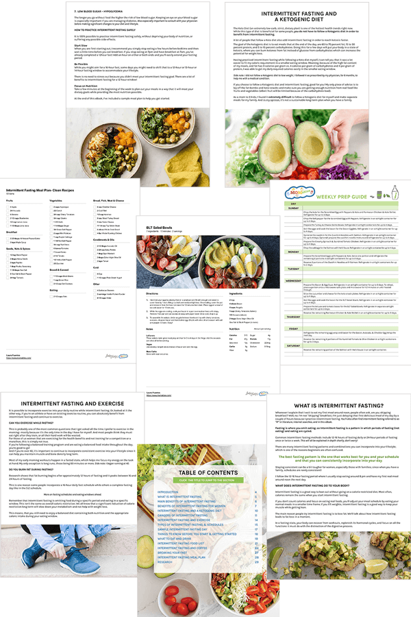 pages of intermittent fasting book laid out