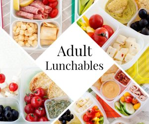 photo collage of adult lunchables