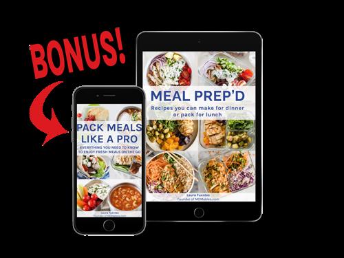 meal prep ebook displayed on a tablet