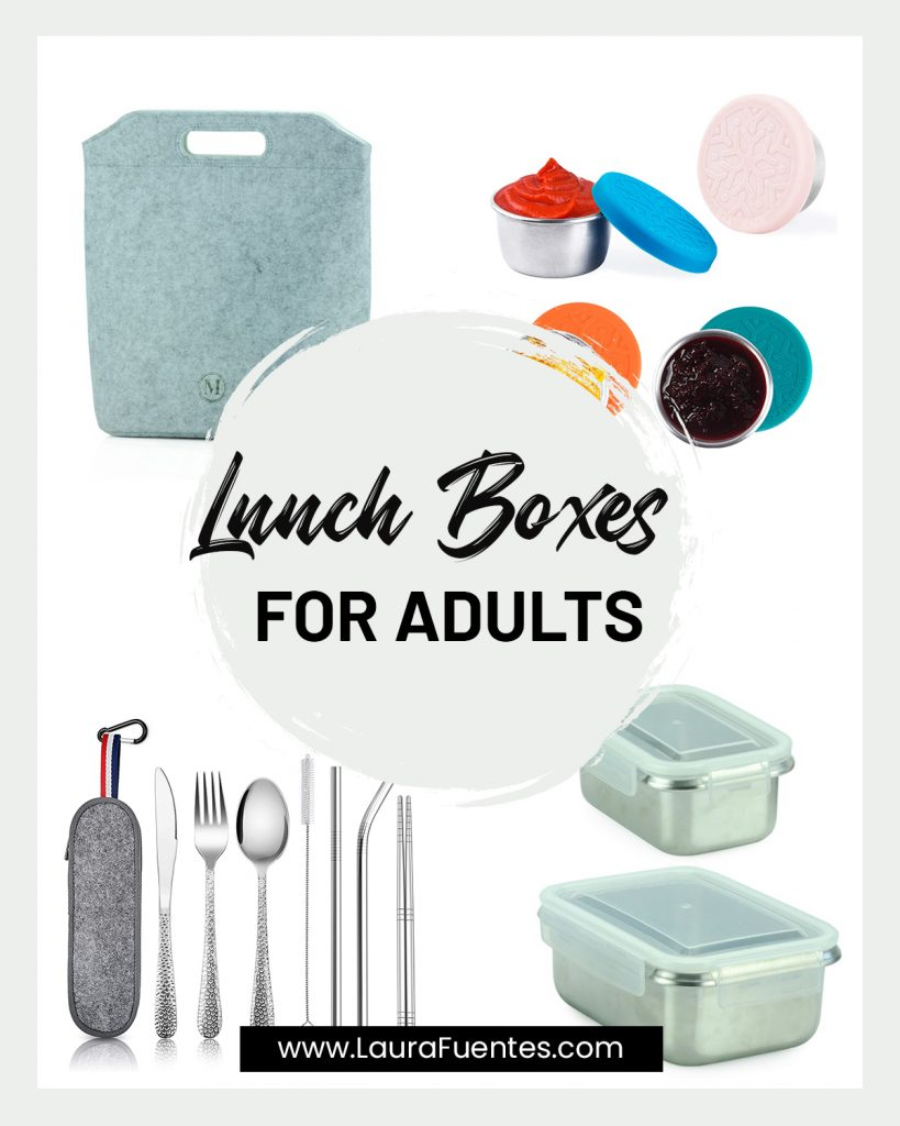image collage of lunch boxes for adults