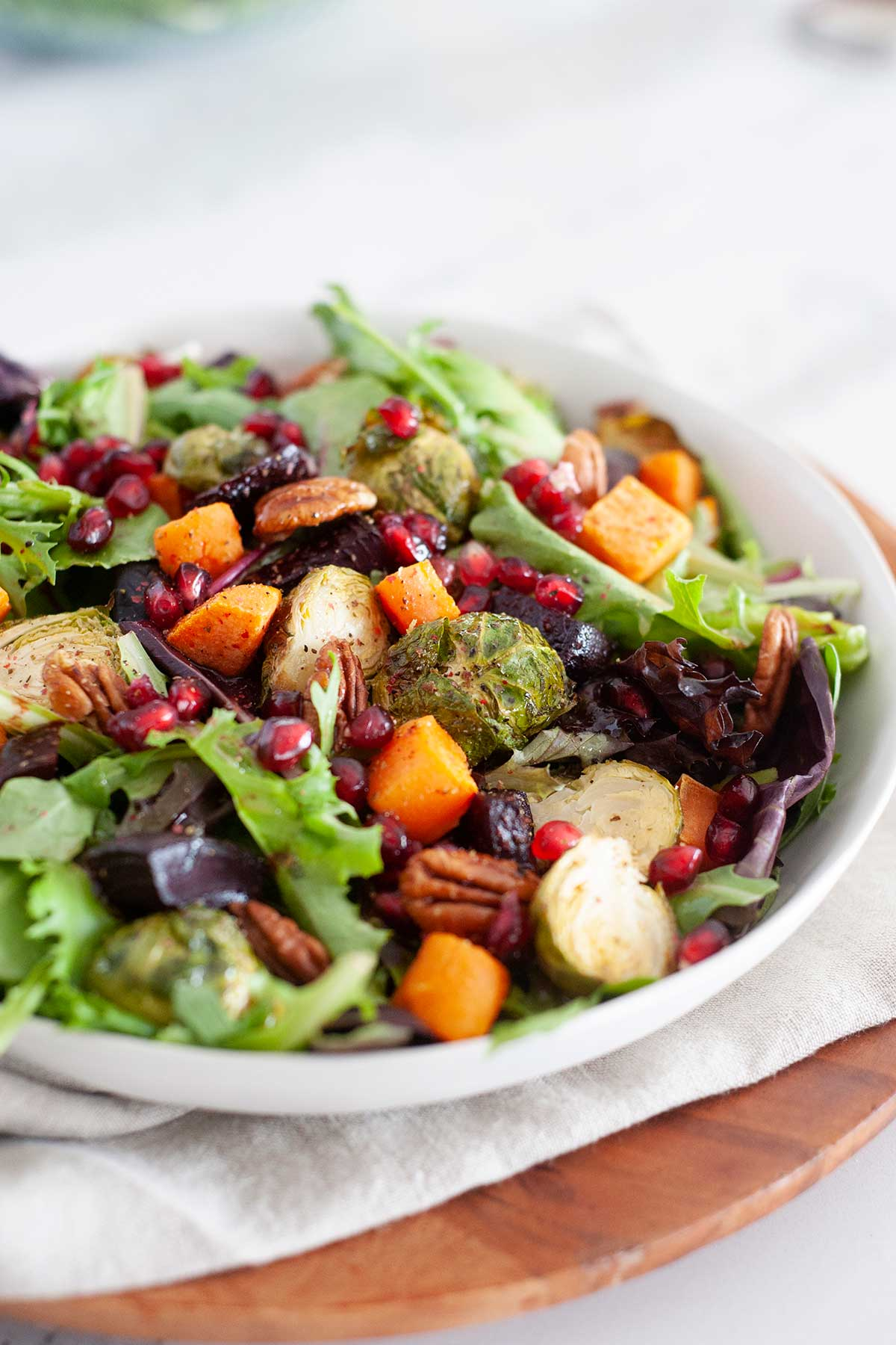 Large winter salad in a bowl
